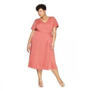 NWT Ava & Viv Women's Plus Size Knit Dress 4X Pink